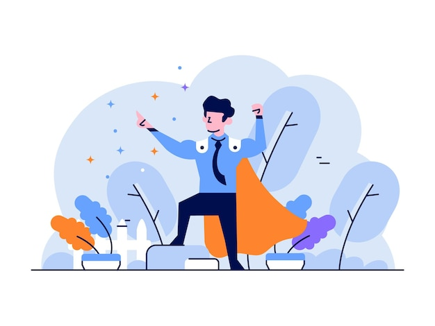 Empleado de negocios y finanzas de ilustración