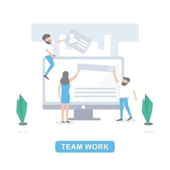 Empleado termine el trabajo con el equipo
