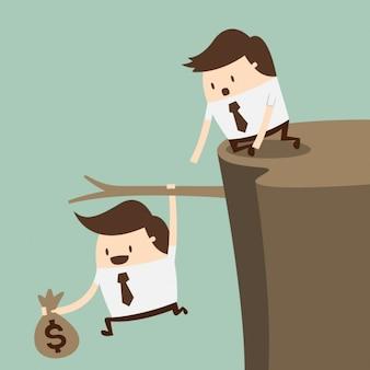 Empleados intentando salvar el dinero