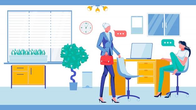 Empleados de oficina en ambiente de trabajo informal.