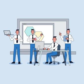 Empleados que trabajan en la oficina
