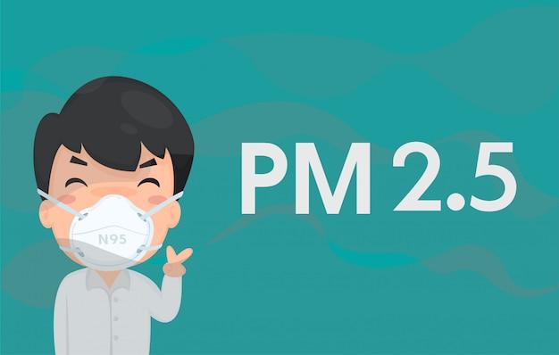 Empleados use una máscara sanitaria para evitar el polvo pequeño.