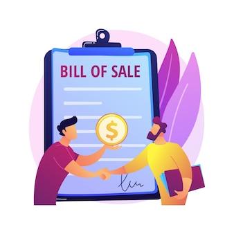 Empleo, firma de contrato laboral, contratación. trato, negociación, acuerdo de servicio pagado. personajes de dibujos animados de empresarios, empleadores y empleados