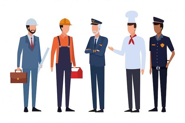 Empleos y profesiones avatar.