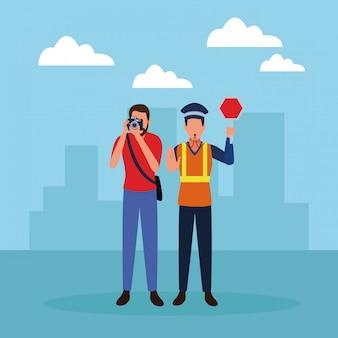 Empleos y profesiones avatares.