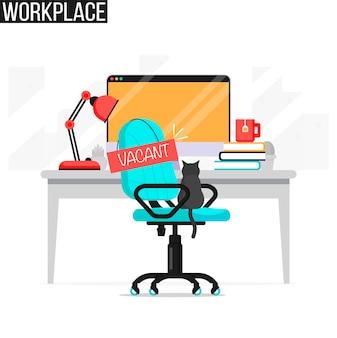 Empleos vacantes, concepto de empleo.