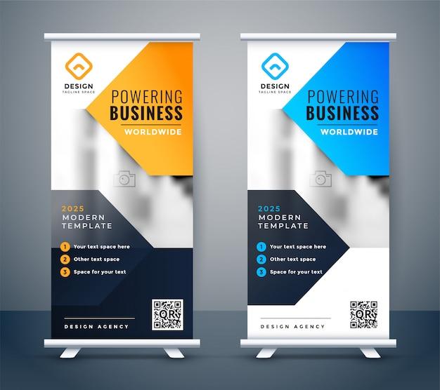 Empresa elegante negocio roll up banner diseño