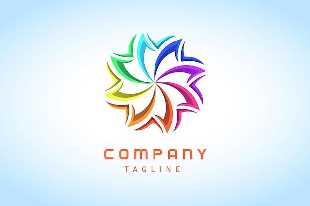 Empresa de logotipo degradado abstracto colorido