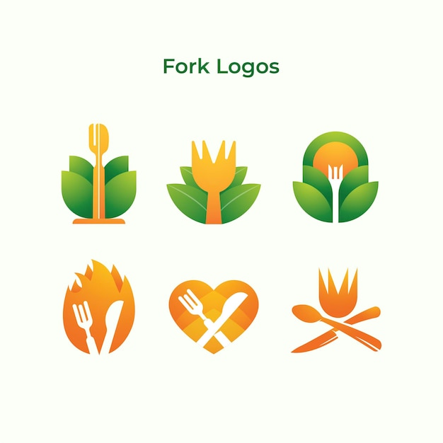 Empresa de logotipos de horquilla
