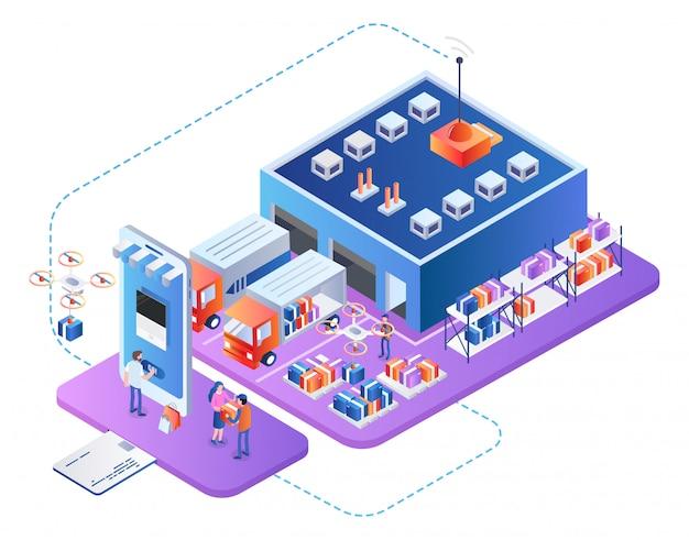 Empresa de servicios logísticos empresariales cadena de suministro