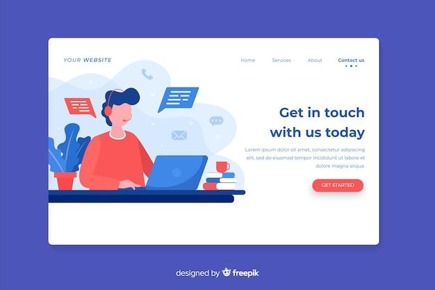 Empresa del sitio web con contáctenos