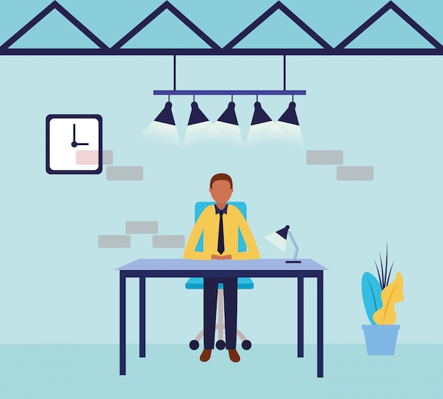 Empresario avatar cartoon