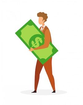 Empresario, ilustración financiera