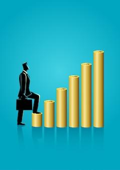 Empresario intensificar en monedas