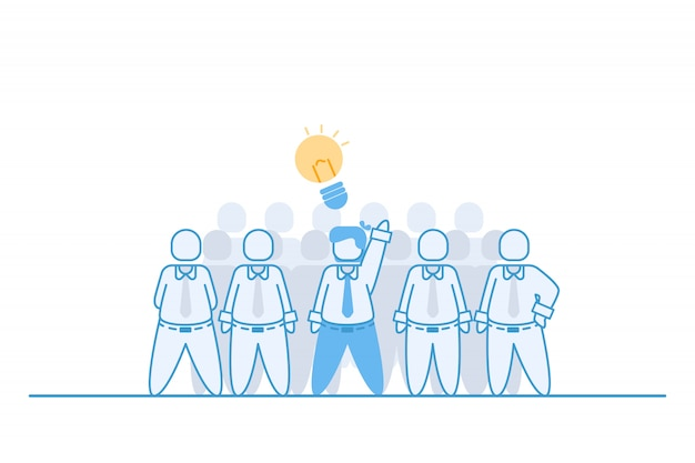 Empresario mostrando su idea