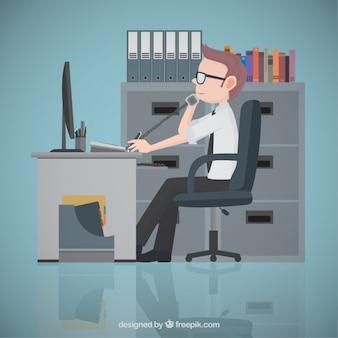 Empresario en la oficina