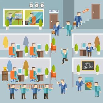 Empresario trabajando concept