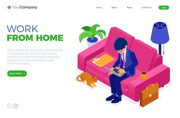Empresario trabajando remotamente desde casa