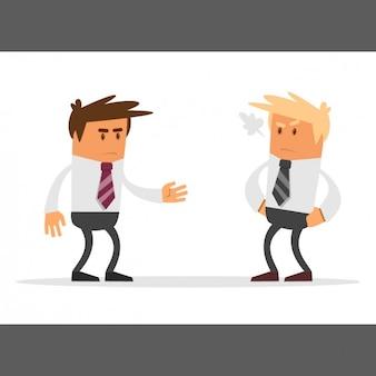 Empresarios discutiendo