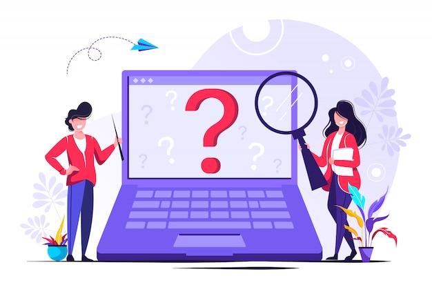 Empresarios haciendo preguntas