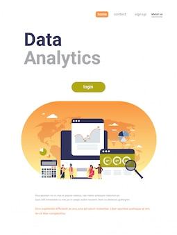 Empresarios indios diagrama gráfico finanzas datos analizador calculadora banner