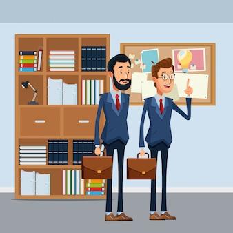 Empresarios con maletín