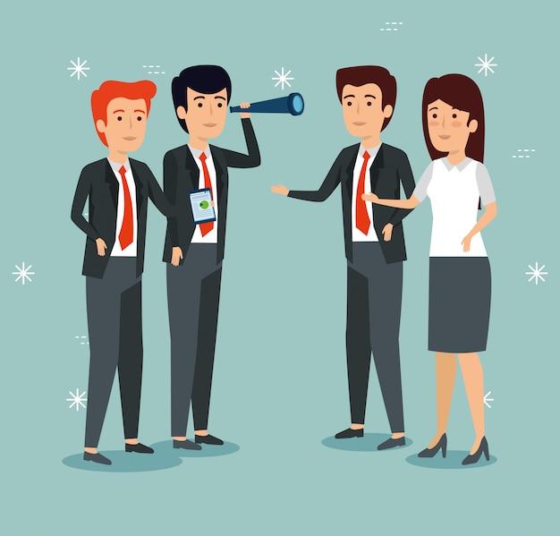 Empresarios profesionales trabajando juntos