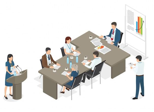 Empresarios en reunión en la oficina