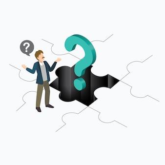 Empresarios con signo de interrogación