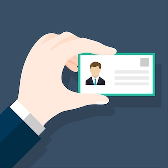 Empresarios con tarjeta en blanco