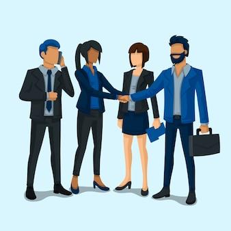 Empresarios trabajando diseño