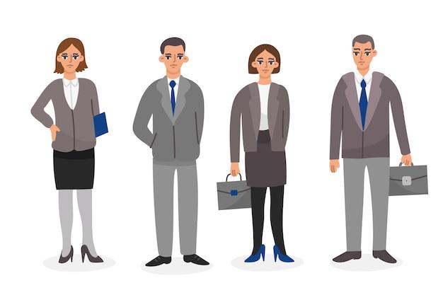 Empresarios en trajes