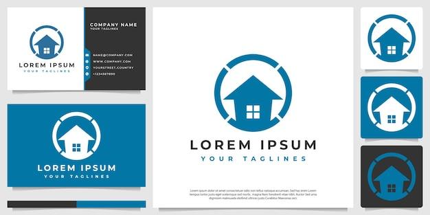 Empresas de construcción logo vector moderno