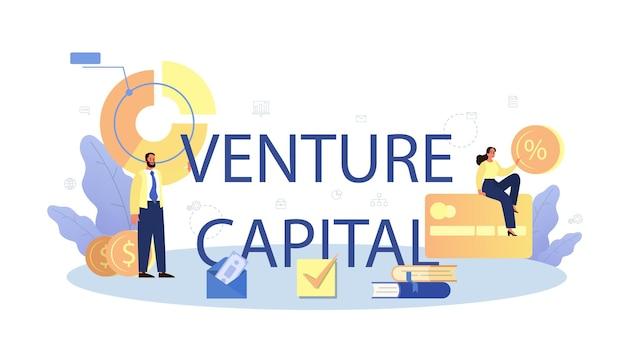 Encabezado tipográfico de capital riesgo