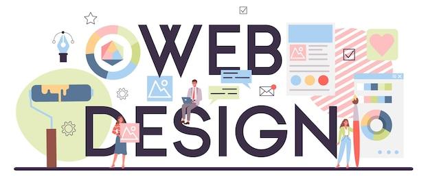 Encabezado tipográfico de diseño web