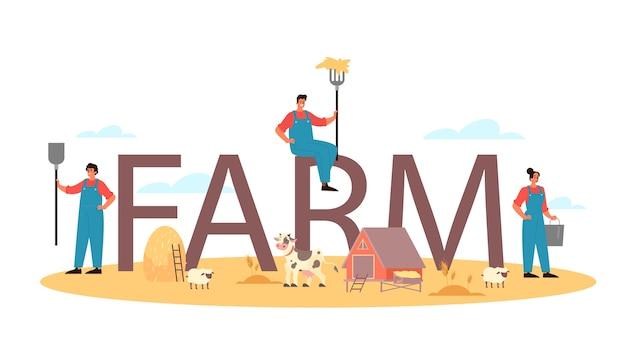Encabezado tipográfico de granja.