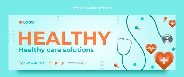 Encabezado de twitter médico realista