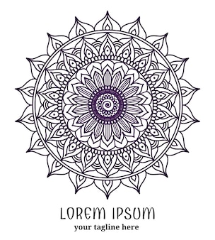Encaje redondo ornamental. círculo adornado, mandala de flores