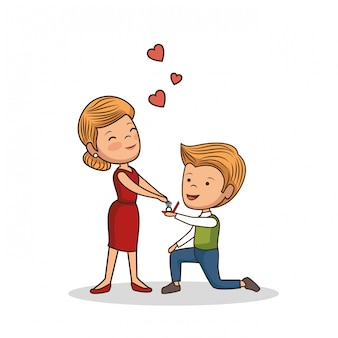 Encantadora pareja dia de san valentin