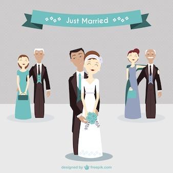 Encantadora pareja de recién casados