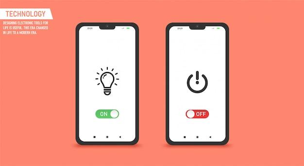 Encender y apagar el interruptor de modo oscuro y claro para la pantalla del teléfono