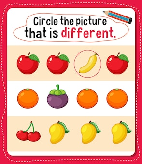 Encierra en un círculo la imagen que representa una actividad diferente para los niños.