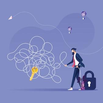 Encontrar la salida del concepto de problema de caos-negocio