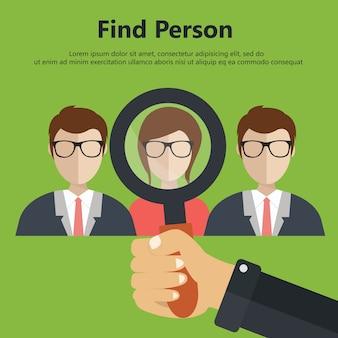 Encuentra a la persona para el trabajo