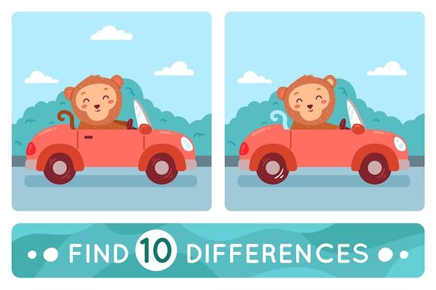 Encuentra la colección de 10 diferencias
