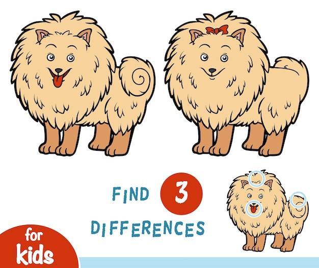 Encuentra las diferencias juego educativo para niños, pomerania