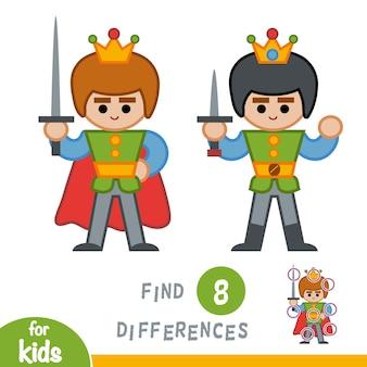 Encuentra diferencias, juego educativo para niños, prince