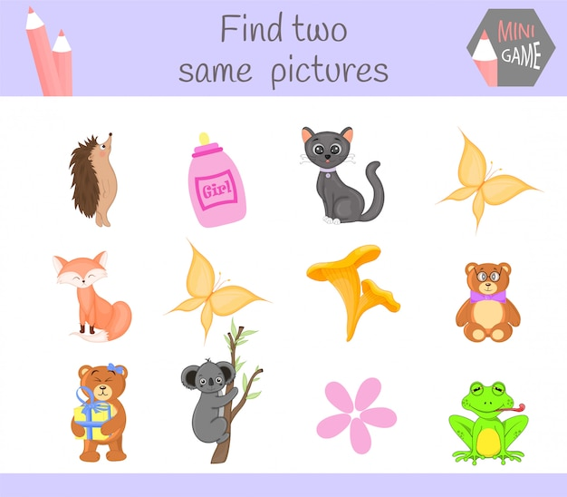 Encuentra dos mismas imágenes