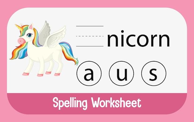 Encuentra la letra perdida con unicornio
