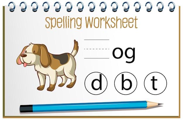 Encuentra la letra que falta con el perro